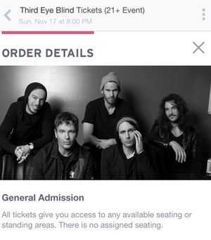 Third Eye Blind Concert Tickets! 11/17 at Seminole Coconut Creek Casino! for Sale in Coral Springs, FL