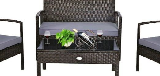 New 4pcs Outdoor Patio Rattan Furniture Set for Sale in Chula Vista,  CA