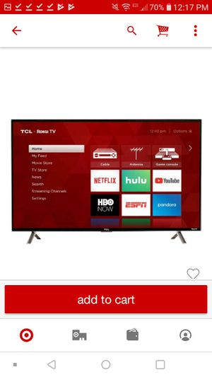 32 inch roku smart tv for Sale in Ithaca, NY