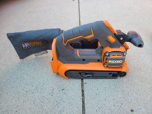 RIDGID 18-Volt Cordless OCTANE Brushless 3 in. x 18 in. Belt Sander (Tool Only) for Sale in Murrieta, CA