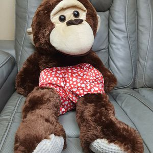 """Monkey With Hearts Valentines Day Plush 30"""" for Sale in Santa Ana, CA"""