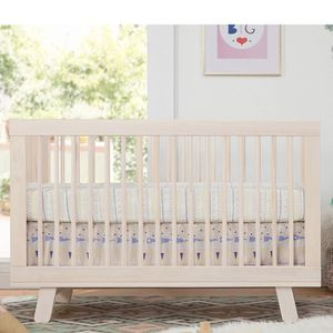 Babyletto Hudson 3-in-1 Convertible Crib with Toddler Bed Conversion Kit in Washed Natural for Sale in Lemont, IL