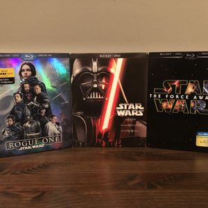 Star Wars Trilogy Blu-Ray & DVD + Rogue One & The Force Awakens for Sale in Fort Lauderdale, FL