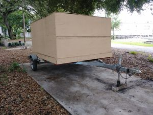 TRAILER, ENCLOSED, UTILITY, 4' × 8' × 6.5' n tires are good for Sale in St. Petersburg, FL