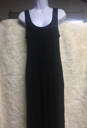 Large black maxi dress with slit for Sale in San Gabriel, CA