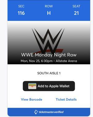 WWE MONDAY NIGHT RAW for Sale in Berwyn, IL