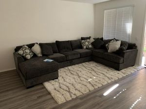 14' Sectional Sofa w/ Chaise (Charcoal) for Sale in Alta Loma, CA