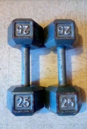 25 LB DUMBBELLS +++---->>> ( FREE DELIVERY ) for Sale in Lynwood, CA