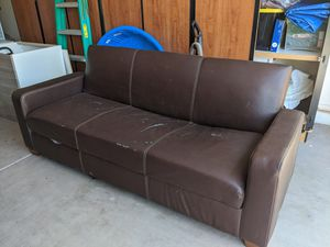 Ashley flip flop sofa futon with storage within for Sale in Chandler, AZ