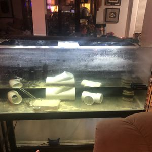 55 Gallon acrylic fish tank aquarium with stand for Sale in Garden Grove, CA