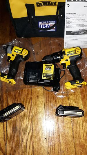 Dewalt power drills new never used with 2 battery and charger for Sale in UPPR MARLBORO, MD