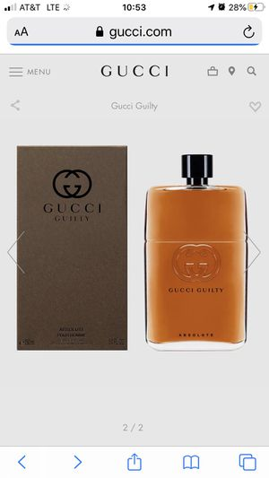 Gucci Guilty Absolute Cologne for Sale in Redlands, CA
