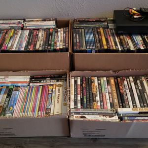 DVD Player & 265 Movies and Series for Sale in Dallas, TX