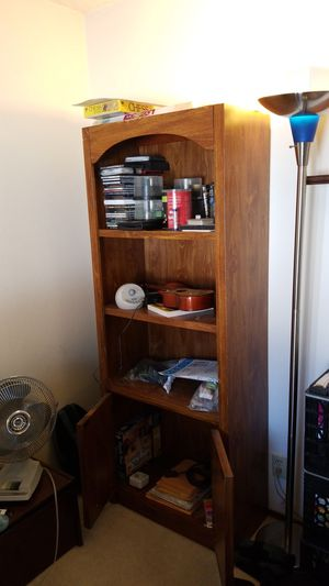 Wooden book case/armoir shelves for Sale in Fremont, CA