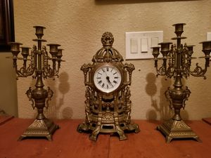 Antique bronze clock set for Sale in Miami, FL
