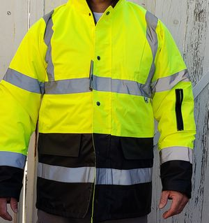 New waterproof safety jacket Small , medium, Xl ,2 xl ,3xl andto 4XL for Sale in Lakewood, CA