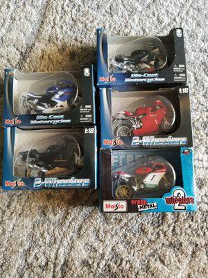 Motorcycle Toy Models Ducati, Suzuki, Aprilia, Kawasaki $10 for Sale in Hayward, CA