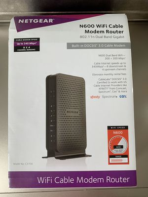 WIFE Cable Modem Router for Sale in Hollywood, FL