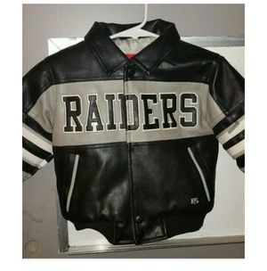 Size 2t children's leather raiders jacket for Sale in Long Beach, CA