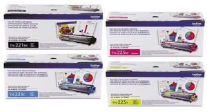 TN225C, TN221BK, TN225M, TN255Y High-yield Toner, Cyan, Yields approx. 2,200 pages‡ for Sale in Queens, NY