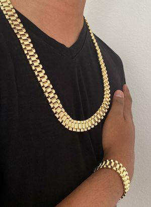 14k gold finish Necklace & Bracelet for Sale in Los Angeles, CA