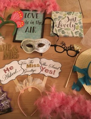 Bridal Shower or Wedding Photo Booth Props for Sale in North Hollywood, CA