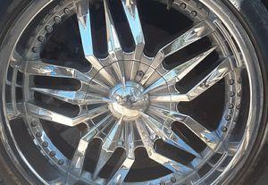 20 in pinnacle chrome rim's $400 for Sale in Corona, CA