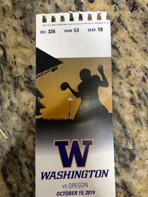 Washington Oregon Football Ticket for Sale in Seattle, WA