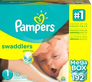 Pampers diapers size 1 (192 count) for Sale in Berea, OH