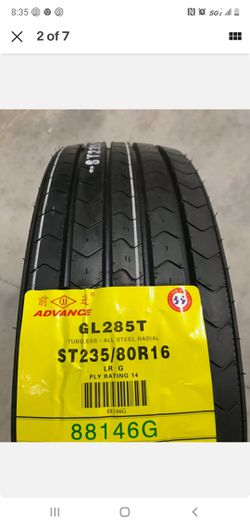 12 New Tires 235 80 16 Advance GL285T 14 ply All Steel Trailer ST235/80R16 for Sale in Bloomingdale,  IL