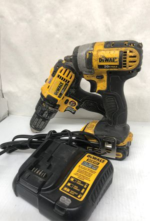 Dewalt impact 3/8 with charger and one battery and drill for Sale in Dallas, TX