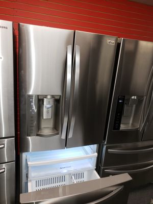"LG 33""wide french door stainless steel refrigerator in exellent condition for Sale in McDonogh, MD"