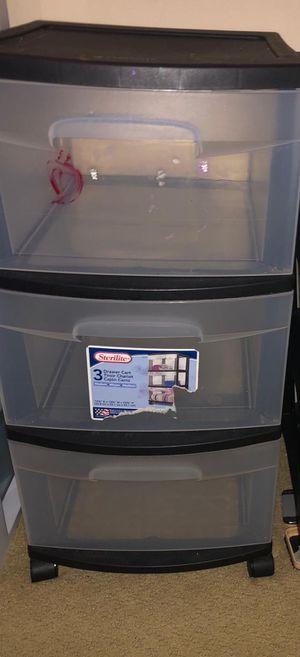 Plastic drawer 3 compartment for Sale in Duarte, CA