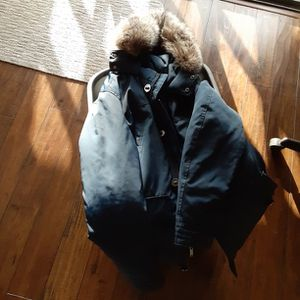 Michael Kors Blue Parka Coat With 100% Fox Fur for Sale in San Diego, CA