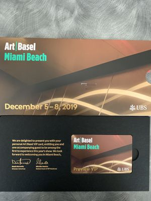 VIP TICKETS FOR ART BASEL IN MIAMI BEACH for Sale in Naples, FL