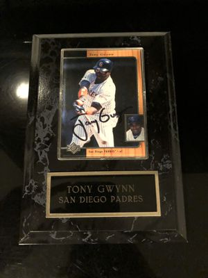 Signed Tony Gwynn Baseball Card for Sale in San Diego, CA