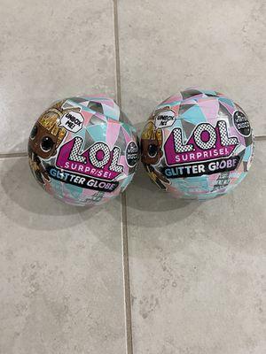 Lol surprise glitter globe set of 2 for Sale in North Port, FL