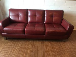 Sofa and seat leather. Burgundy for Sale in Tampa, FL