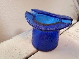 Vintage Cobalt Blue Top Hat Carnival Cigarette Holder & Ashtray for Sale in Las Vegas, NV
