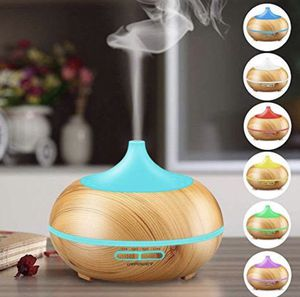 NEW Aromatherapy Essential Oil Diffuser, URPOWER 300ml Wood Grain Ultrasonic Cool Mist Whisper-Quiet Humidifier with Color LED Lights Changing for Sale in Washington Grove, MD