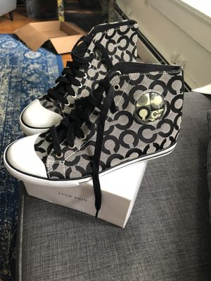 Coach converse sneakers- black for Sale in Washington, DC