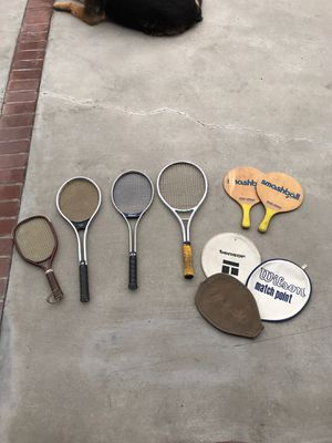 Old tennis rackets for Sale in Los Angeles, CA