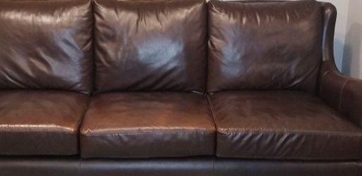 Genuine NOT bonded Leather Designer Sofa Couch for Sale in Kent,  WA