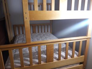 Twin over full bunk bed and mattresses for Sale in Auburn, WA