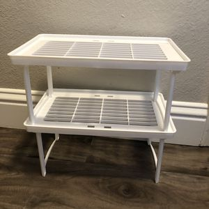 Pair of 2 Plastic Stackable Racks for dishes baskets etc for Sale in Carrollton, TX
