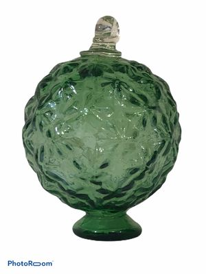 Antique Green Glass Star Pattern Christmas Ornament Orb Ball Decorative Sphere for Sale in Ashland City, TN