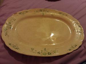 1890s vintage mercer semi vitreous serving platter for Sale in Gaston, SC