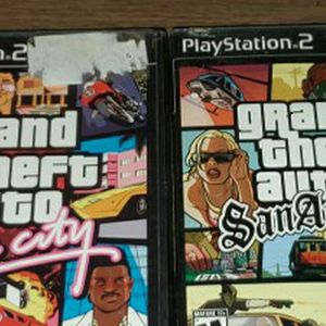 Playstation 2 Grand Theft Auto Vice City & San Andreas for Sale in Phoenix, AZ