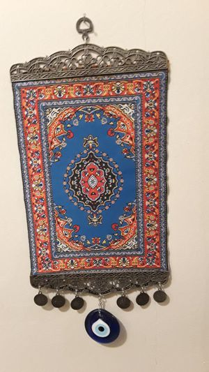 "Gorgeous Turkish home decor for good luck and protection. Made in Turkey. 18""×8"". for Sale in New York, NY"