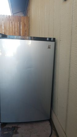Kenmore mini fridge stainless steel..still has a lot of life left in it! for Sale in Lakewood,  CO